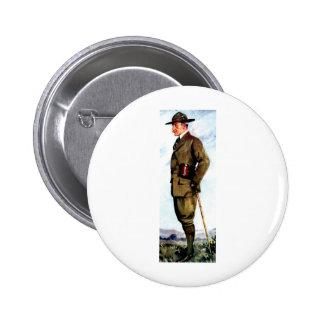 Señor Baden-Powell - fundador de exploración Chapa Redonda 5 Cm