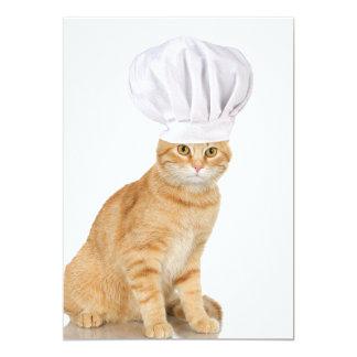 Señor Cat Chef To You Invitación 12,7 X 17,8 Cm
