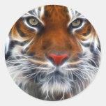 Señor de las selvas indias, el tigre de Bengala Etiqueta Redonda