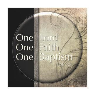 Señor del espejo, fe, bautismo lona envuelta para galerías