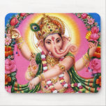 Señor Ganesha del baile Alfombrillas De Ratones