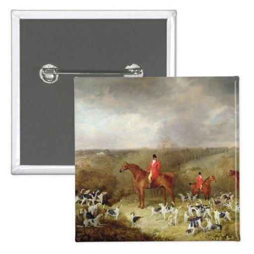 Señor Glamis y sus sabuesos, 1823 (aceite en canva Pins