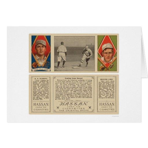 Señor Oldring Baseball 1912 del atletismo Felicitaciones