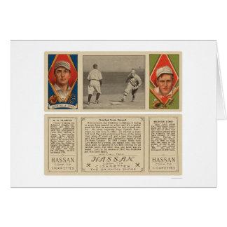 Señor Oldring Baseball 1912 del atletismo Tarjeta De Felicitación