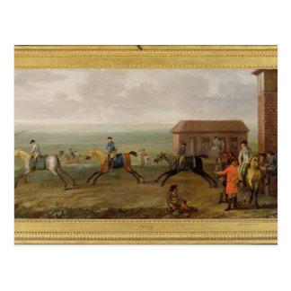 Señor Portmore Watching Racehorses en ejercicio en Tarjeta Postal