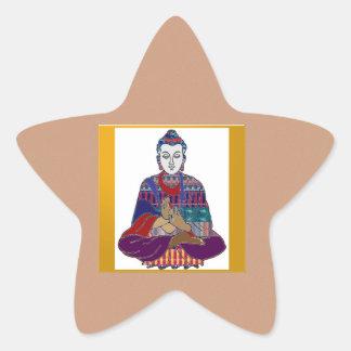 Señor principal Teacher Meditation del alcohol de Pegatina En Forma De Estrella