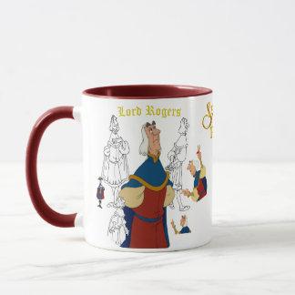 Señor Rogers Sketch Mug con Rim&Handle coloreado Taza