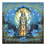 Señor Vishnu - la tarjeta, saludo, invita Invitación 13,3 Cm X 13,3cm