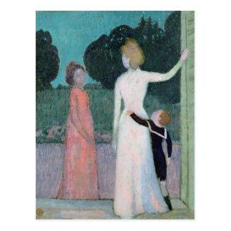 Señora Adrien Mithouard y su hijo Postal