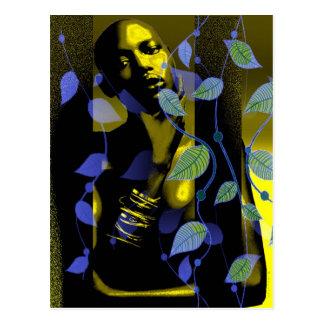 Señora africana In Gold Postal