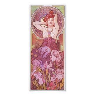 Señora Amethyst Vintage de Nouveau del arte de Alf Foto