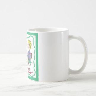 Señora astuta taza de café
