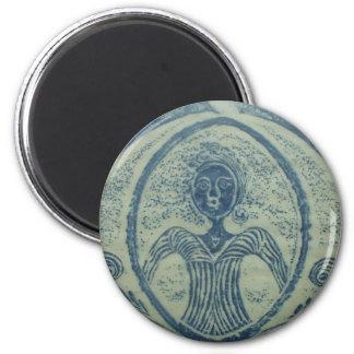 señora azul american Grave Rubbing Design de los 1 Imán Para Frigorífico