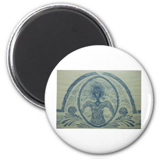 señora azul american Grave Rubbing Design de los 1 Imán Para Frigorifico