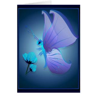Señora Blue Butterfly Card Tarjeta De Felicitación