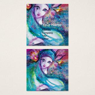 SEÑORA BLUE MASK elegante, salón de belleza, Tarjeta De Visita Cuadrada