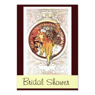 Señora Bridal Shower Invitation de Mucha Anuncio Personalizado