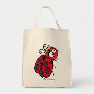 Señora Bug Grocery Tote Bolsa Tela Para La Compra