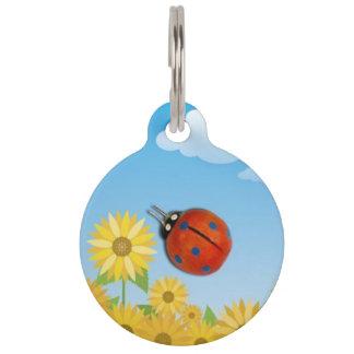 Señora Bug Pet ID Tag Placas De Mascota