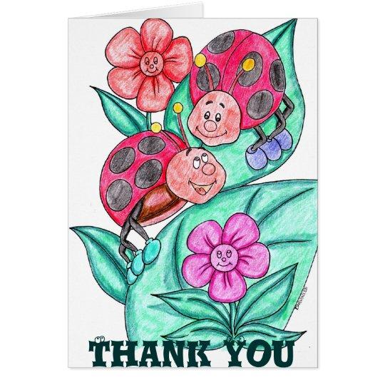 Señora Bugs Thank You Card Tarjeta De Felicitación