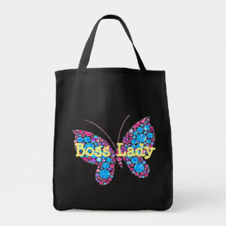 Señora Butterfly Grocery Tote de Boss Bolsa Tela Para La Compra
