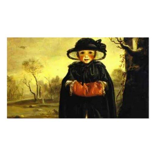 Señora Caroline Scott de Joshua Reynolds como invi Tarjetas De Visita