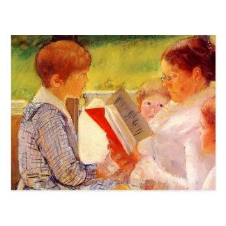 Señora Cassatt Reading de Maria Cassatt- a los Postal
