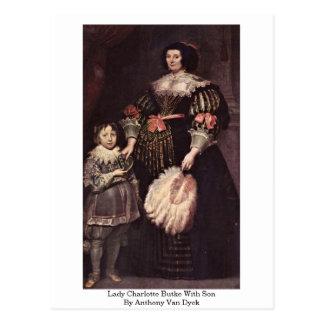 Señora Charlotte Butke con el hijo de Anthony Van Postal