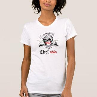 Señora Chef Skull Camiseta