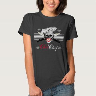 Señora Chef Skull Camisetas