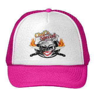 Señora Chef Skull Hat: El Special del cocinero Gorras De Camionero