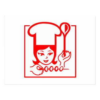 Señora Chef Tarjeta Postal