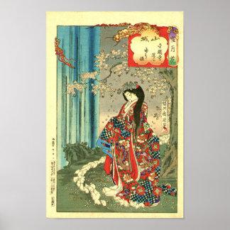 Señora clásica japonesa del geisha - arte de Japón