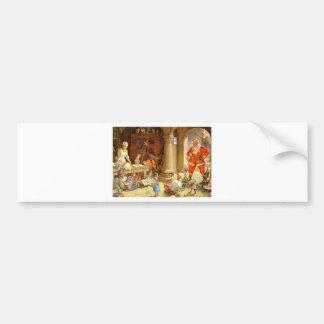 Señora Claus y duendes de Santas que cuecen las ga Pegatina Para Coche