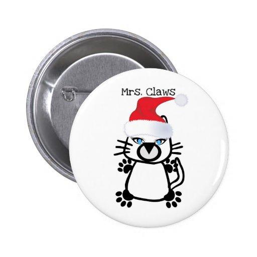 SEÑORA CLAWS CHRISTMAS KITTY PRINT PIN
