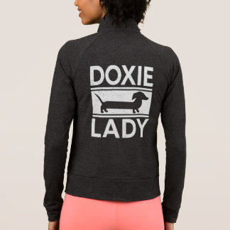 Señora Cute Dachshund de Doxie Chaqueta