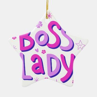 Señora de Boss Adorno De Cerámica