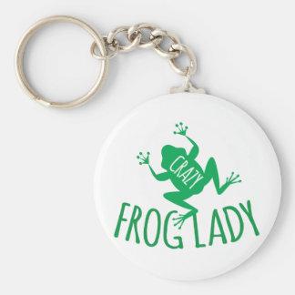 Señora de Crazy Frog Llavero Redondo Tipo Chapa