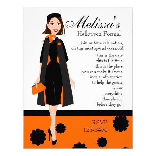 Señora de Halloween Invitacion Personalizada