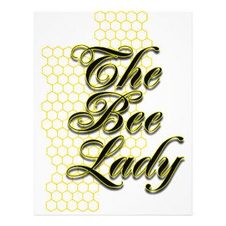señora de la abeja tarjetas publicitarias
