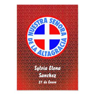 Señora De La Altagracia Invite Invitación 12,7 X 17,8 Cm