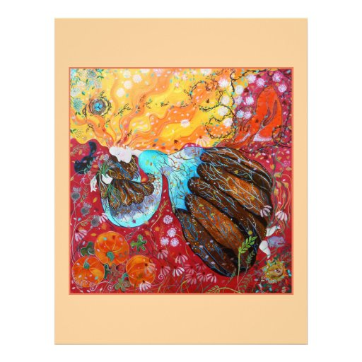 Señora de la naturaleza y las estaciones del año tarjetas informativas