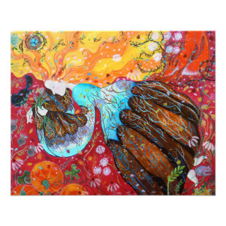 Señora de la naturaleza y las estaciones del año folleto 11,4 x 14,2 cm