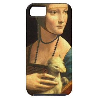Señora de la pintura de Da Vinci original con un Funda Para iPhone SE/5/5s