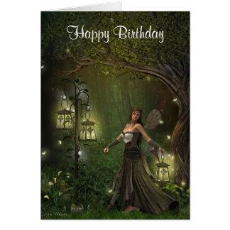 Señora de la tarjeta de cumpleaños de las