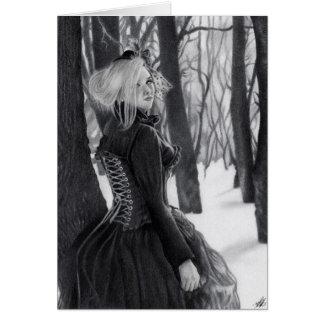 Señora de la tarjeta gótica del bosque de la