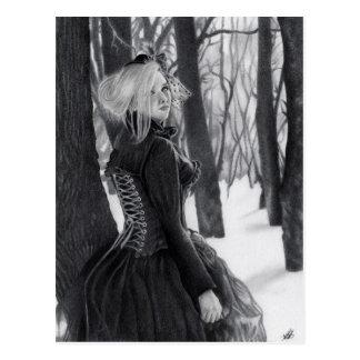 Señora de las postales del invierno