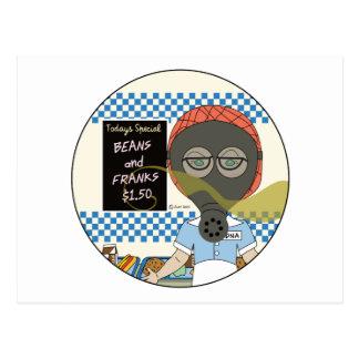 Señora del almuerzo - día de las habas y de las postal