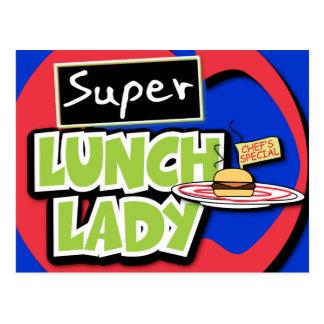 Señora del almuerzo - señora estupenda del postal