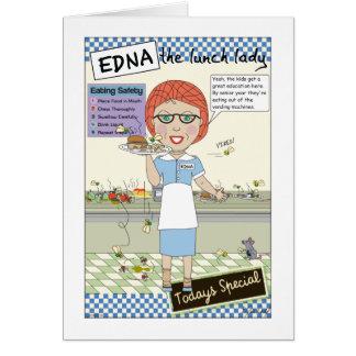 Señora del almuerzo tarjeta de felicitación